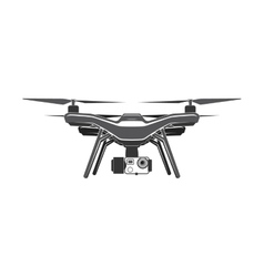 drone quadrocopter digital camera flat vector image