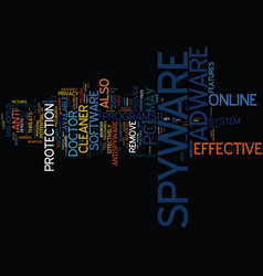 effective spyware and adware utilities text vector image