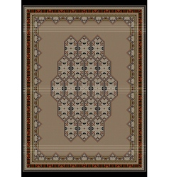Elegant design beige carpet vector