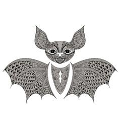 entangle black bat totem for adult anti stress vector image