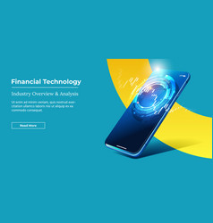 Financial technology - fintech concept vector