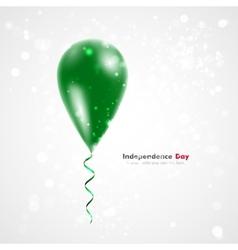 Flag of the Libyan Arab Jamahiriya on balloon vector