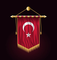 Flag of turkey festive vertical banner wall vector