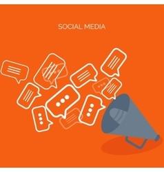 Flat background Social media vector