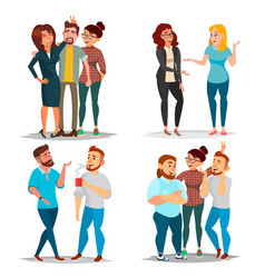 Friends characters set laughing friends vector