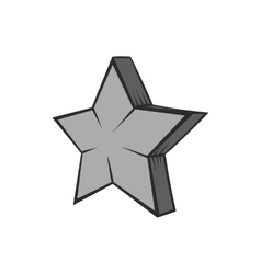 Geometrical figure of five pointed stars icon vector image