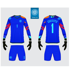 goalkeeper jersey or soccer kit mockup templete vector image