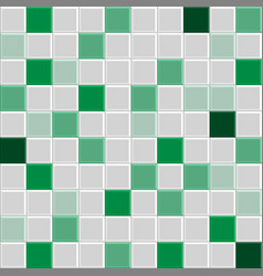 green tile texture vector image