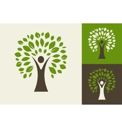 green tree - logo and icon vector image