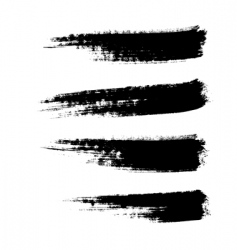 Grunge paintbrushes vector