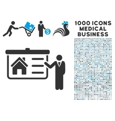 House presentation icon with 1000 medical business vector