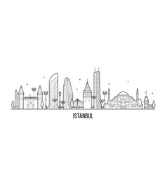 Istanbul skyline turkey city a vector
