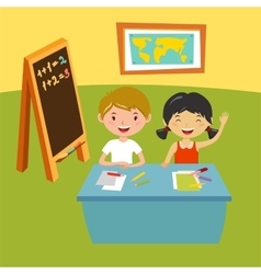 Kids school geography lessons vector image