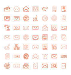 letter icons vector image