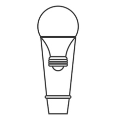 Light bulb and hot air balloon design vector
