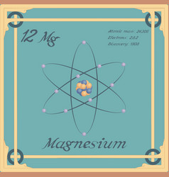 Magnesium colorful icon vector