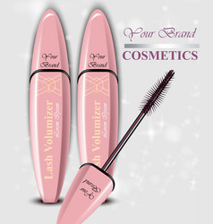 mascara cosmetics package product vector image