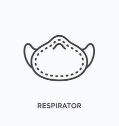 medical respirator line icon outline vector image