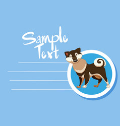 Memo note with cute dog vector