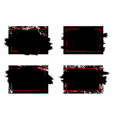 modern dirty grunge brush stroke design frames vector image