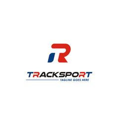 modern monogram initials t r tr rt sport logo vector image