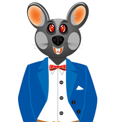 mouse in suit vector image