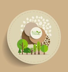 Nature banner Eco organic labels and cards with vector image