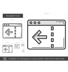 Navigation line icon vector