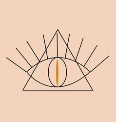 occult illuminati masonic symbols eye of vector image