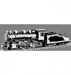 Old locomotive vector