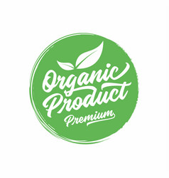 organic natural product logo or label vector image