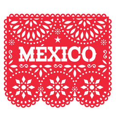 papel picado mexico design retro mexican vector image