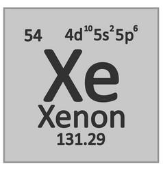 Periodic table element xenon icon vector