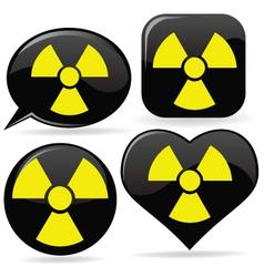 Radioactive signs vector