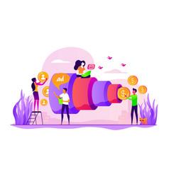 sales pipeline management concept vector image