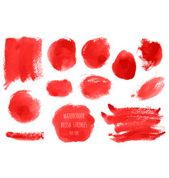 set bloody red pink watercolor hand painted vector image
