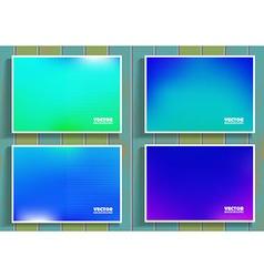 Set of blue flares on wooden background vector