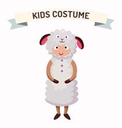 Sheep kid costume isolated vector image