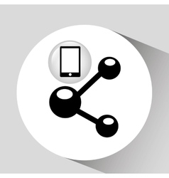 Smartphone screen data sharing graphic vector