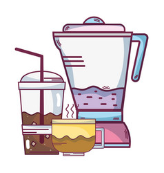 Smoothie drinks cartoon vector