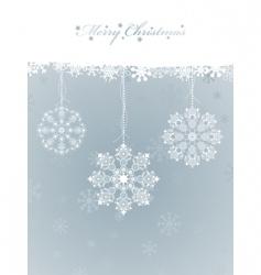 snowflake decorations vector image