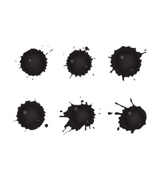 Spilled oil vector