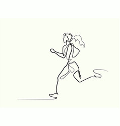 sport running woman vector image