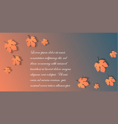 standard size web banner with autumn leaves vector image