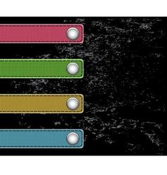 strips cloth on buttons vector image