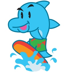 Surf Dolphin vector