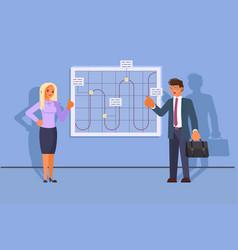 teamwork concept business development vector image