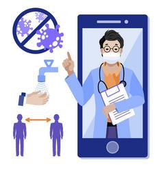 Telemedicine online medicine medical consultant vector