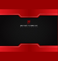 Template red and black contrast abstract vector