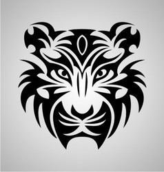 Tiger Face Tribal vector